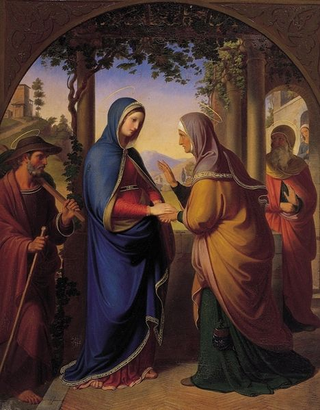 The Visitation by Karl von Blaas